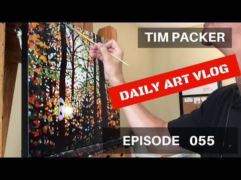Painting the Birches - Daily Art Vlog - Episode 055