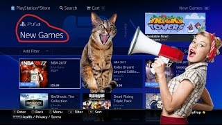 NEW VIDEO GAMES ON PSN & NEW PS4 FREE THEME
