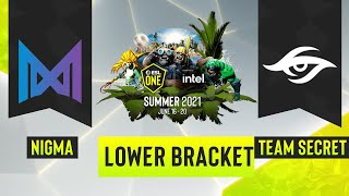 Dota2 - Team Secret vs. Team Nigma - Game 2 - ESL One Summer 2021 - Lower Bracket