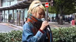 小谷悠花「逢いたくていま」(MISIA)、なんば周辺、15.04.11