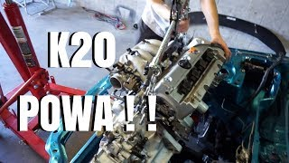 K20 GETS PULLED FROM THE DONOR CAR!  HSG EP. 5 -54