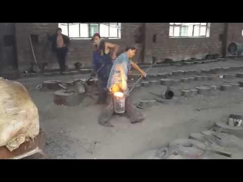 Как льют стальной фланец в Китае - литые фланцы