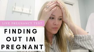 LIVE PREGNANCY TEST / FINDING OUT I'M PREGNANT / IN SHOCK!!