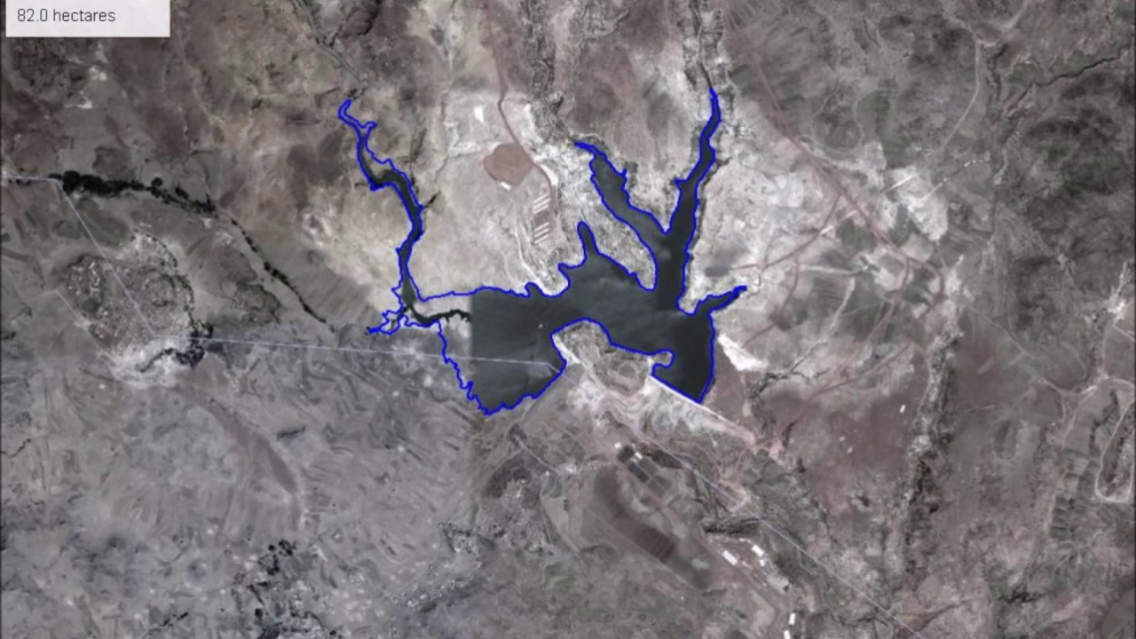 15 years of new lakes and reservoirs in Eritrea Google Earth