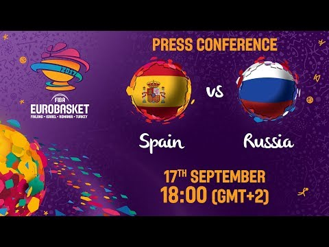 Spain v Russia - Press Conference - FIBA EuroBasket 2017