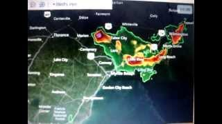 Severe Thunderstorm Warning for Cen. Horry SC and W Columbus County NC 3-19-12 {NO EAS}