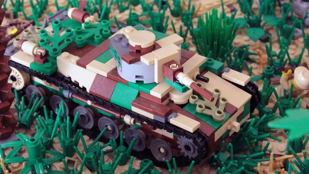 Custom LEGO WW2 Japanese Type 97 ShinHoTo Chi-Ha medium tank