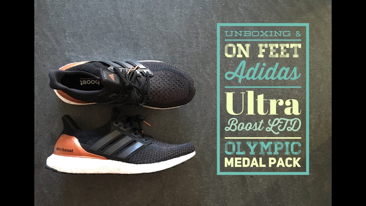1c593cd1f Adidas Ultra Boost LTD olympic Medal Pack | UNBOXING & ON FEET | fashion |  shoes | 2016 | HD