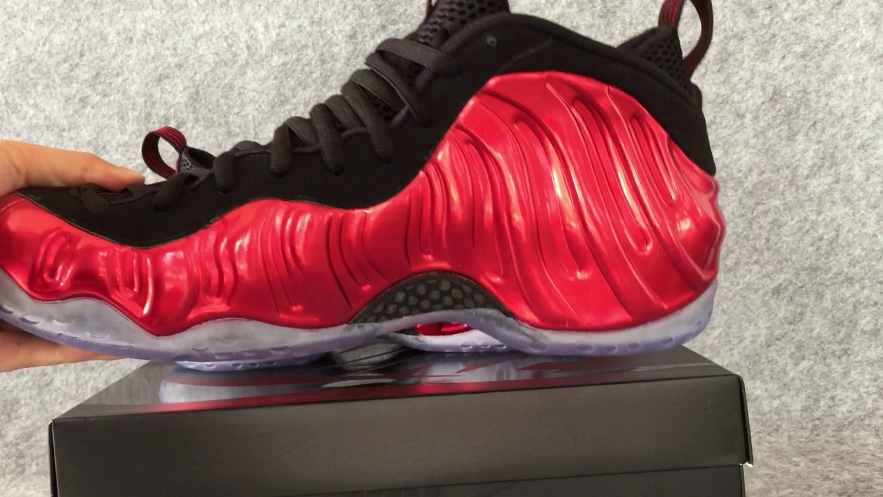 eac95c525eb Authentic Nike Air Foamposite One Metallic Red 2017 - YouTube