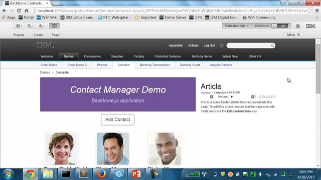 IBM Script Portlet 1 3 for WebSphere Portal