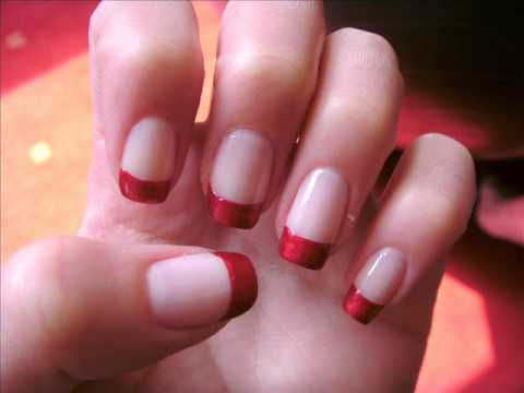 Easy red french nail art tutorial with white flowers youtube easy red french nail art tutorial with white flowers prinsesfo Choice Image