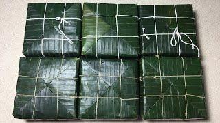 Cách Gói Bánh Chưng Đẹp, Làm Khuôn Nhanh - Traditional Vietnamese rice cake double diagonal vertex