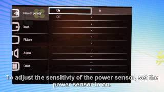 How to disable/adjust monitor Philips - 220P4LPYEB/00 power sensor