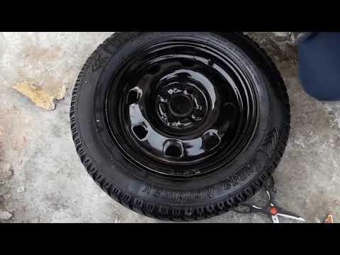 Что будет если покрасить диски зимой Hyundai Accent 2