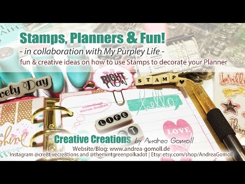 【Stamps, Planners & Fun】 in collaboration with My Purpley Life