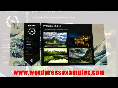 Creative Wordpress Theme KingSize Pographers and Designers