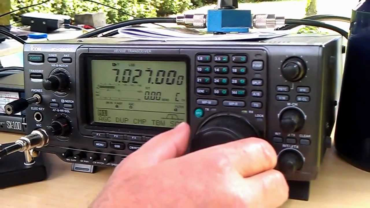 Dk1ar Macht Betrieb Mit Dem Icom Ic-7400