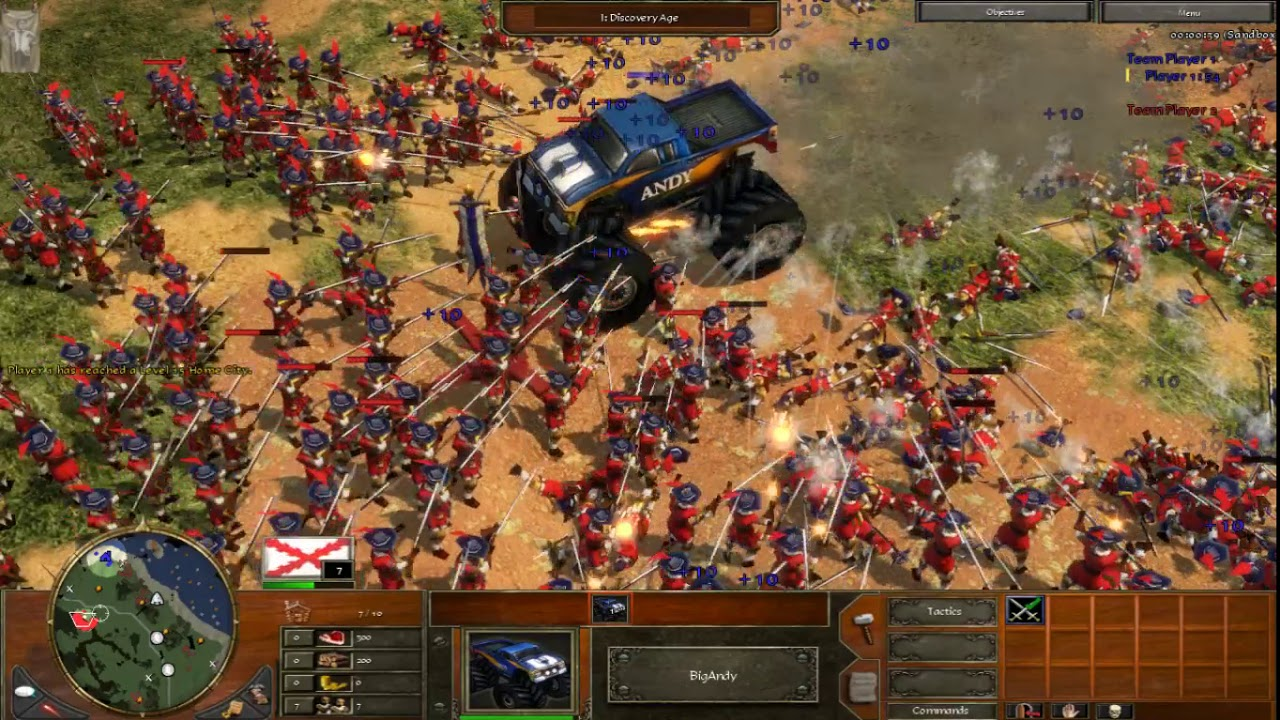 Age of Empires 3- 1000 Musketeers vs Monster truck