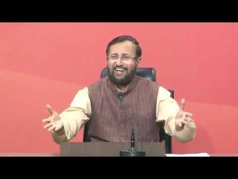 Press Conference by Shri Prakash Javadekar at BJP HQ