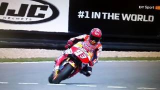 Marc Marquez 67.5 degrees crash and save