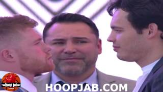 THE FULL CANELO ALVAREZ VS. JULIO CESAR CHAVEZ JR WEIGH IN & FACE OFF VIDEO