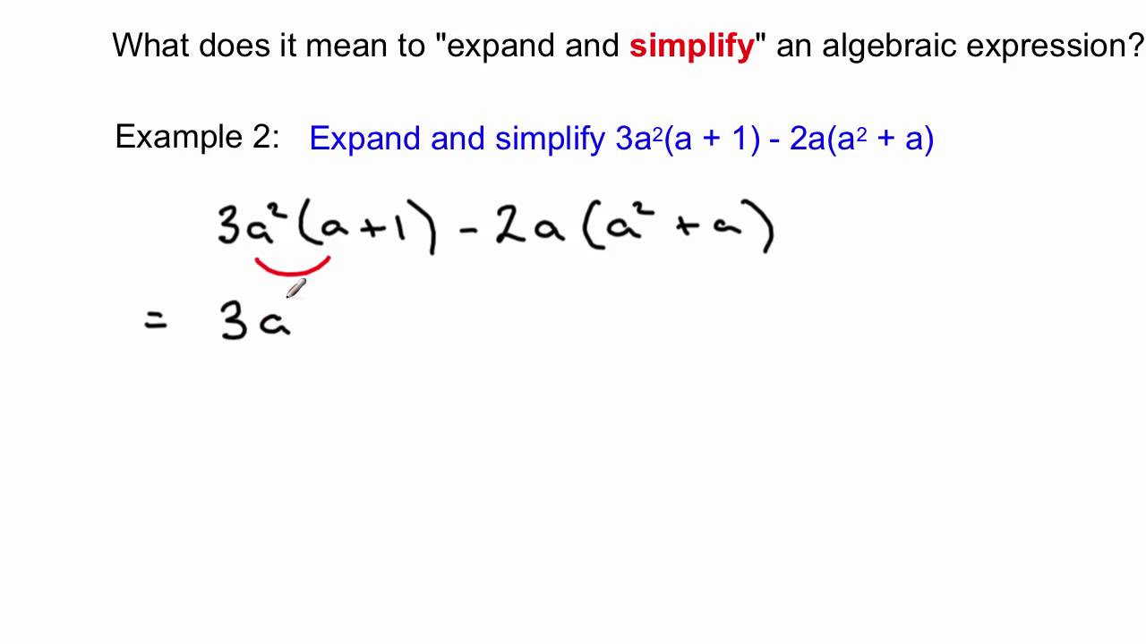 Expanding And Simplifying Algebraic Expressions Youtube