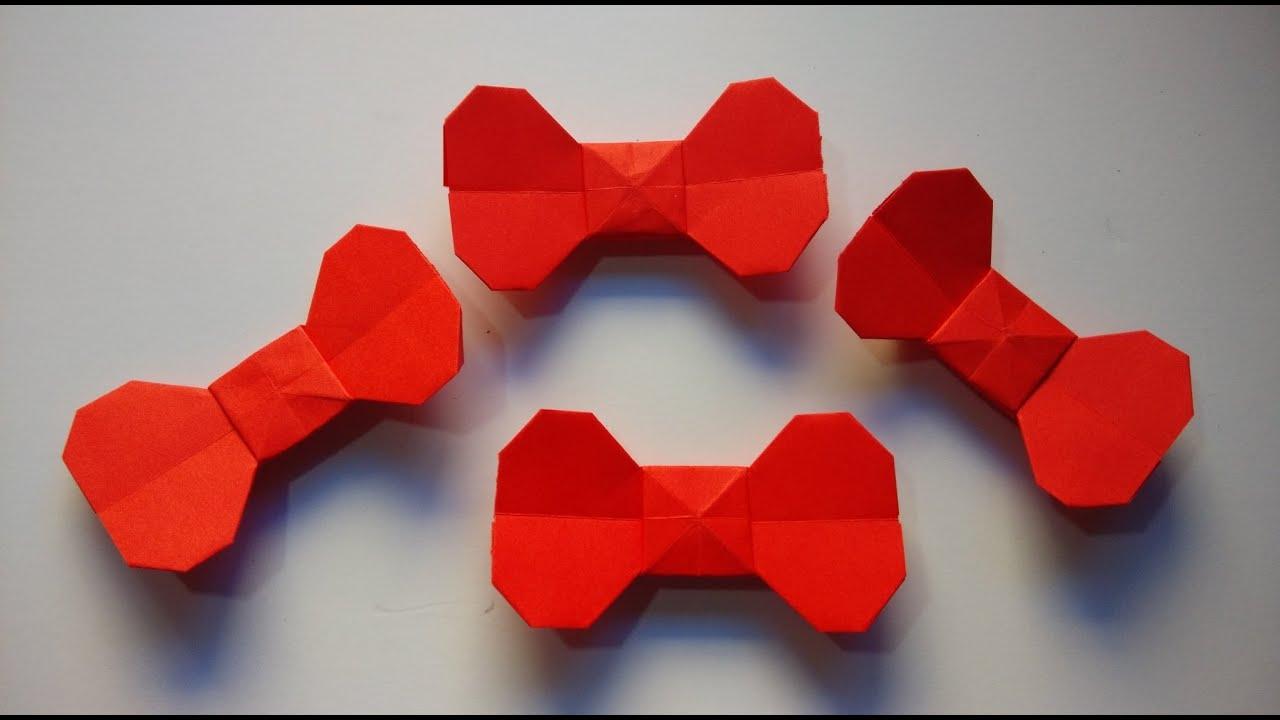 como hacer un lazo de papel sencillo youtube