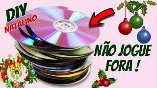 IDEIAS Reciclando CD para o NATAL