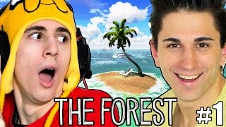 NAUFRAGHI SULL'ISOLA! - The Forest #1 - (Favij & Anima Let's Play)