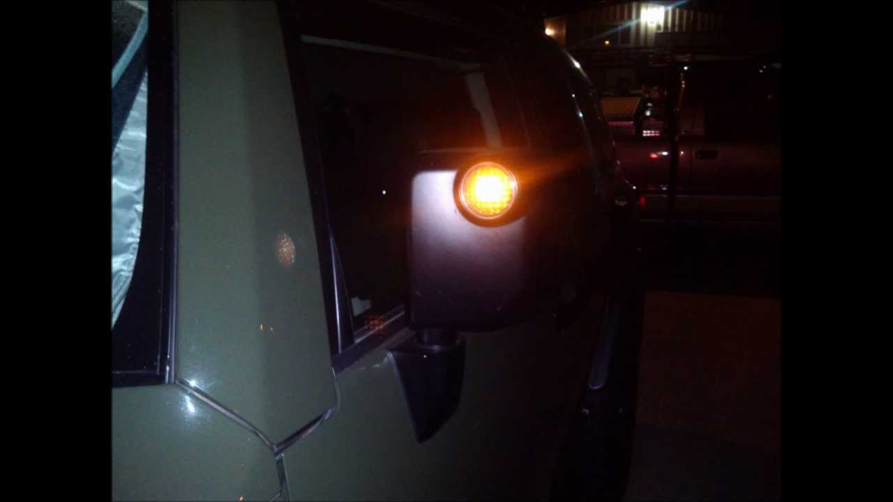 4 30 13 Fj Cruiser Mirror Lighting Youtube