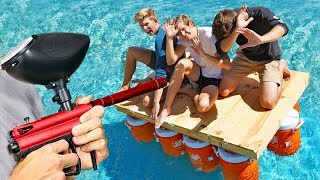 Last to Jump off the Punishment Boat Wins!! *SURVIVAL CHALLENGE vs J-FRED*