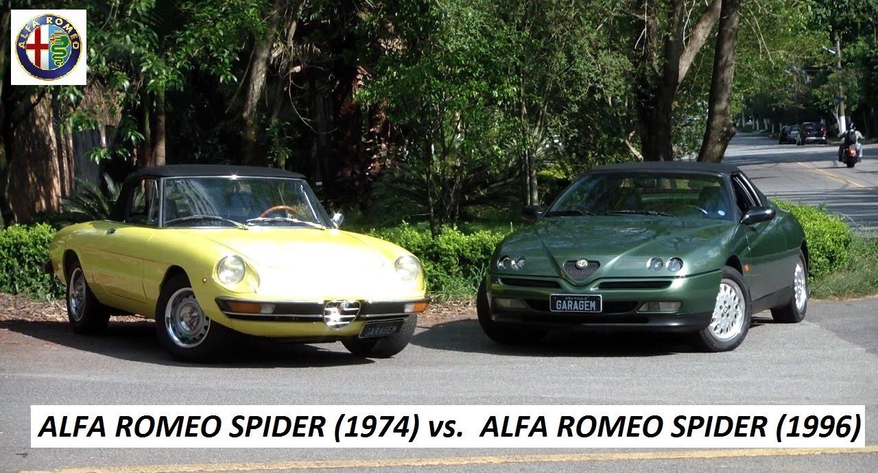 garagem do bellote tv: alfa romeo spider (1974) vs alfa romeo