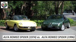 Garagem do Bellote TV: Alfa Romeo Spider (1974) Vs Alfa Romeo Spider (1995)