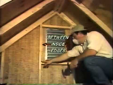 Cool Attic Gable Mount Installation Youtube