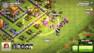 #1 Clash Of Clans , mostrando minha vila centro de vila 6 full