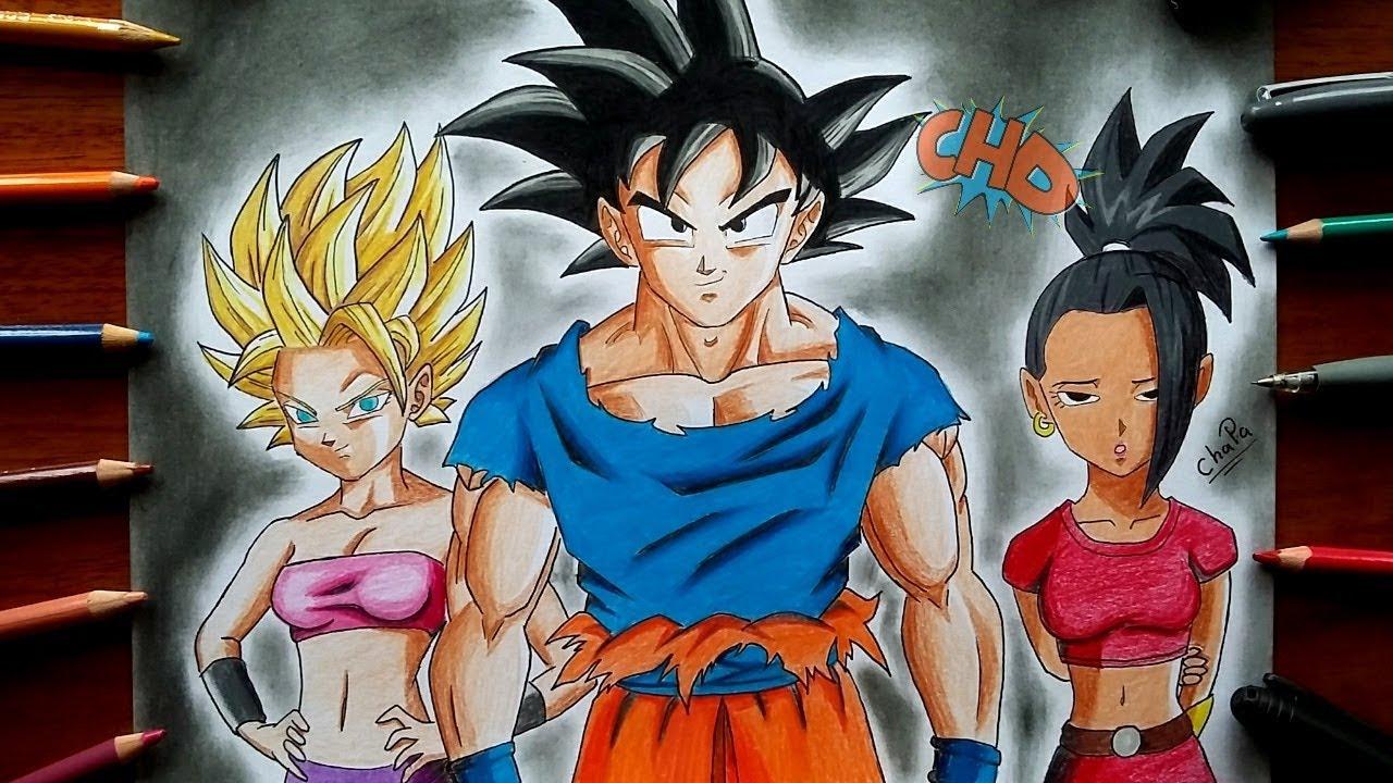 Como Dibujar A Goku Caulifla Y Kale Dragon Ball Super Ep 113 How To Draw Goku Caulifla Kale By Chapa Dibuja