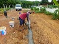 Building Foundations for walls and a Thai house in UdonThani