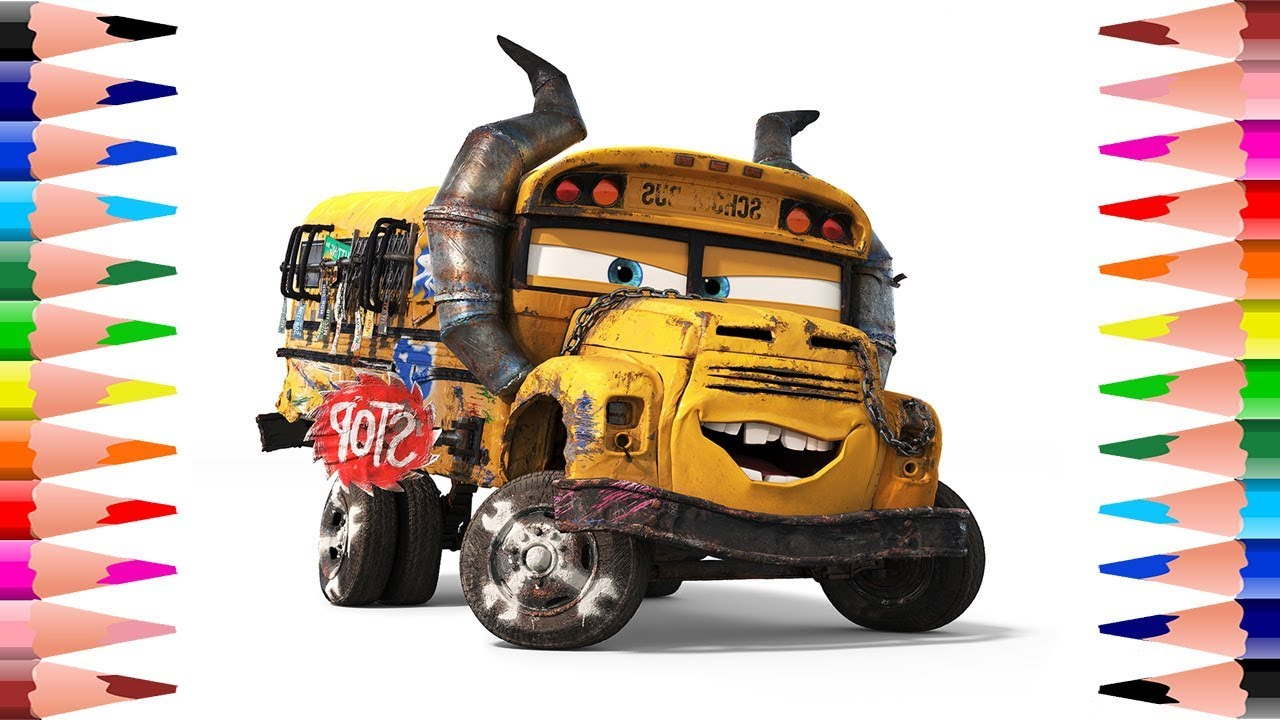 Car Truck Coloring Pages : Disney pixar cars coloring book for kids painting miss fritter