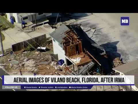 Aerial images of Vilano Beach, Florida, after Irma