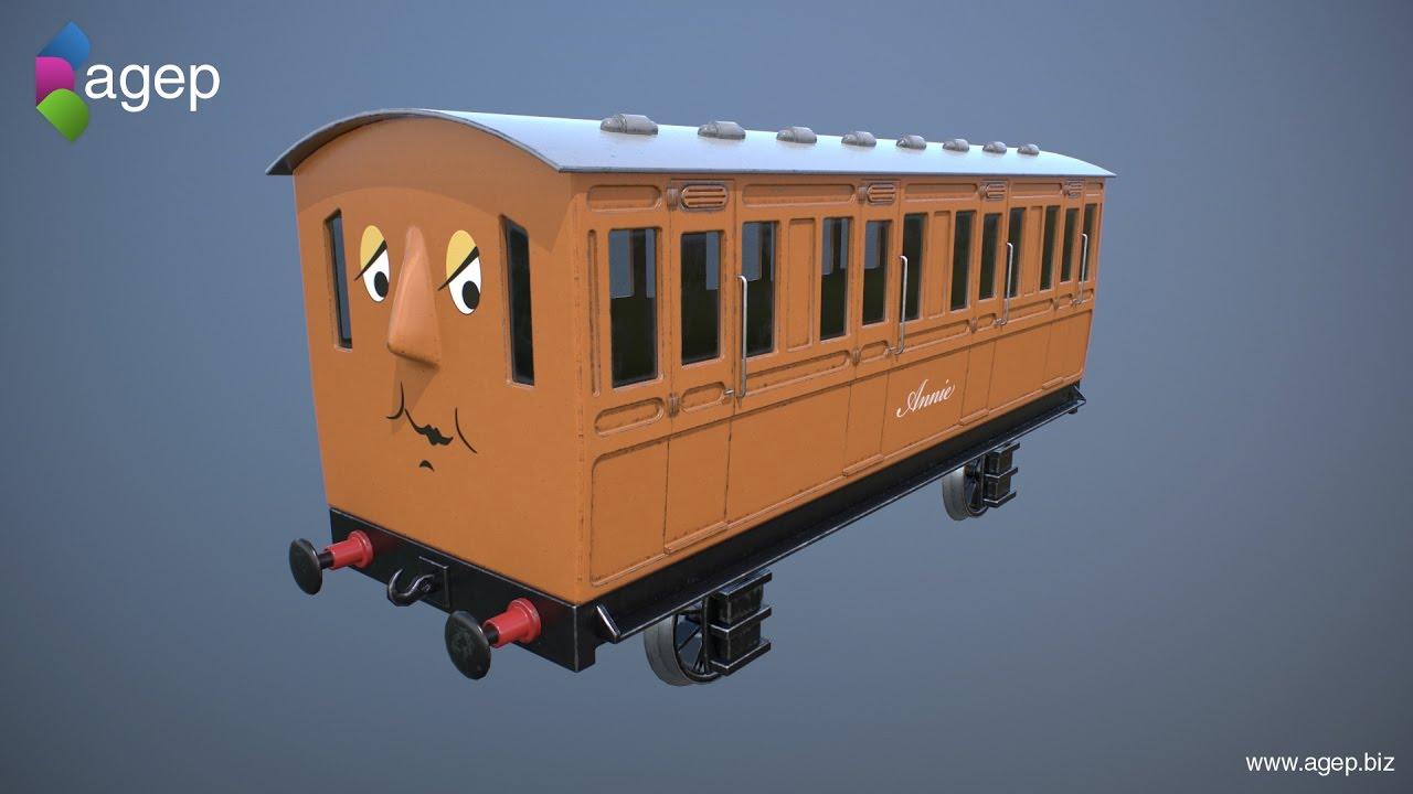 Downloadable! Annie and Clarabel (3D) - Thomas & Friends Fanart