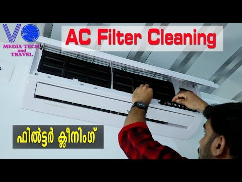 How to Clean Home AC Filter Very simple Videocon Air Conditioner