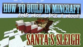 How To Build : Santa's Sleigh? - Minecraft Tutorials