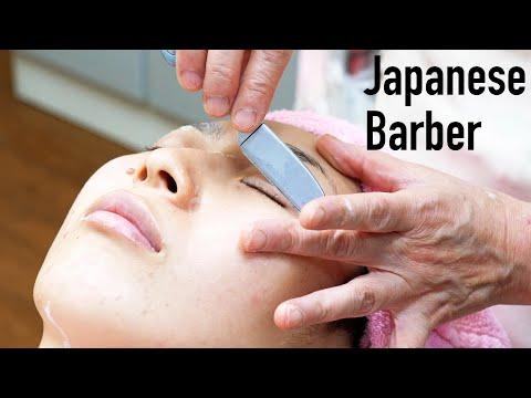 💈No Talking / Face Shave / Japanese Barber Shop / Female Barber / ASMR  / Bridal Shaving 💈