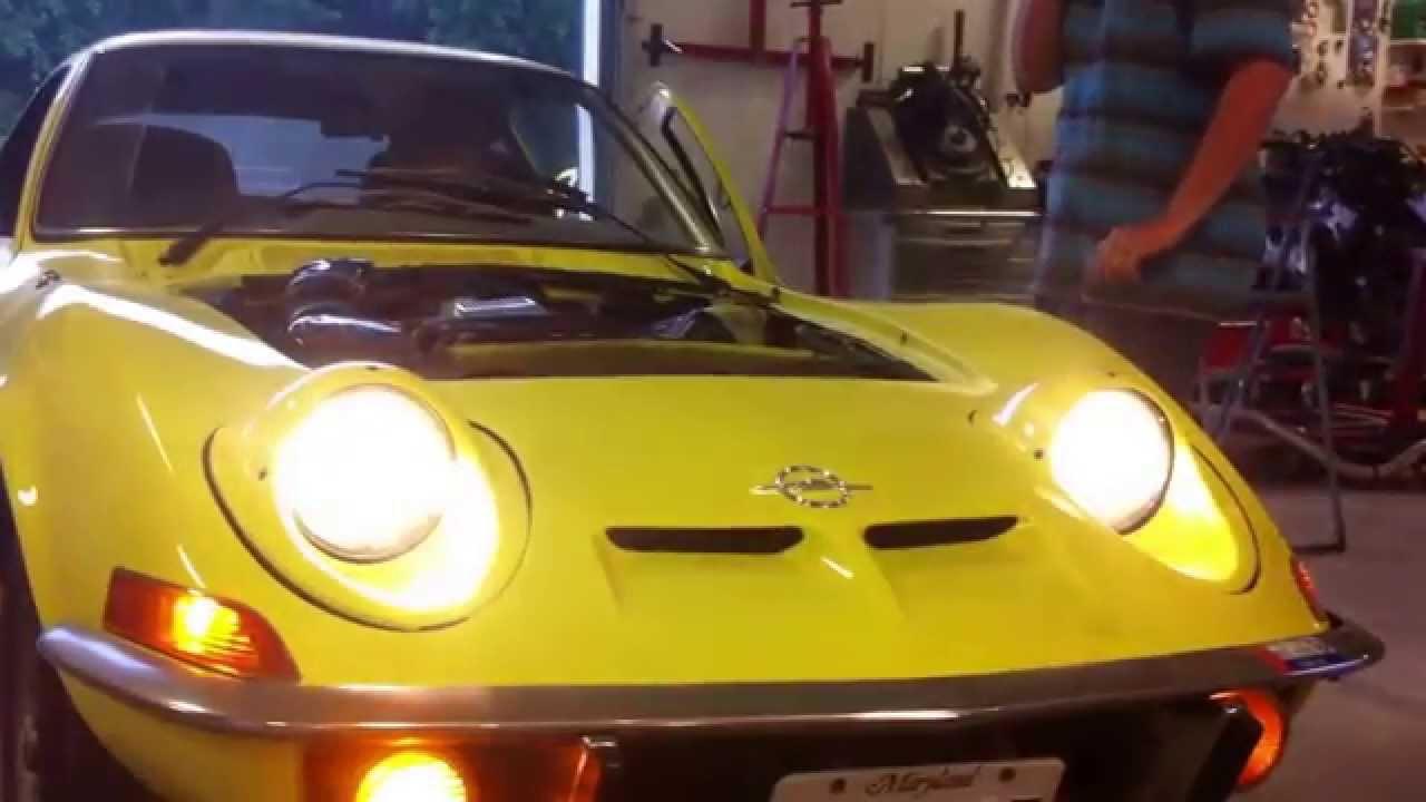 Opel gt headlights