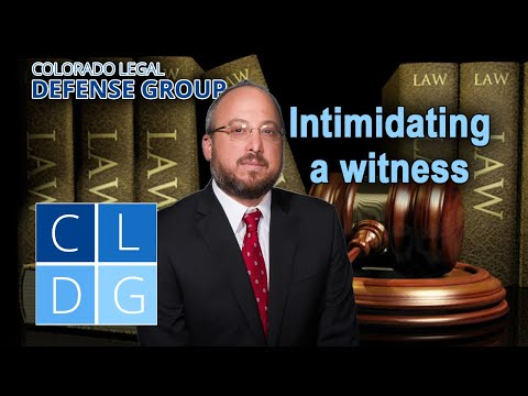"""Crime of """"intimidating a witness or victim"""" in Colorado"""
