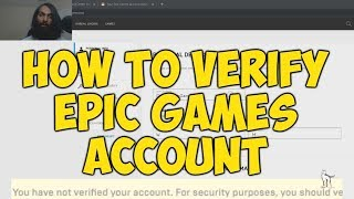 How To Verify Epic Games (fortnite) Account