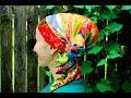 Silky Oblong Long Tichel Tutorial ~ Wrapunzel Monet's Garden!