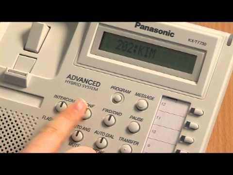 Panasonic KXTA KXTE Conference Call.mpg