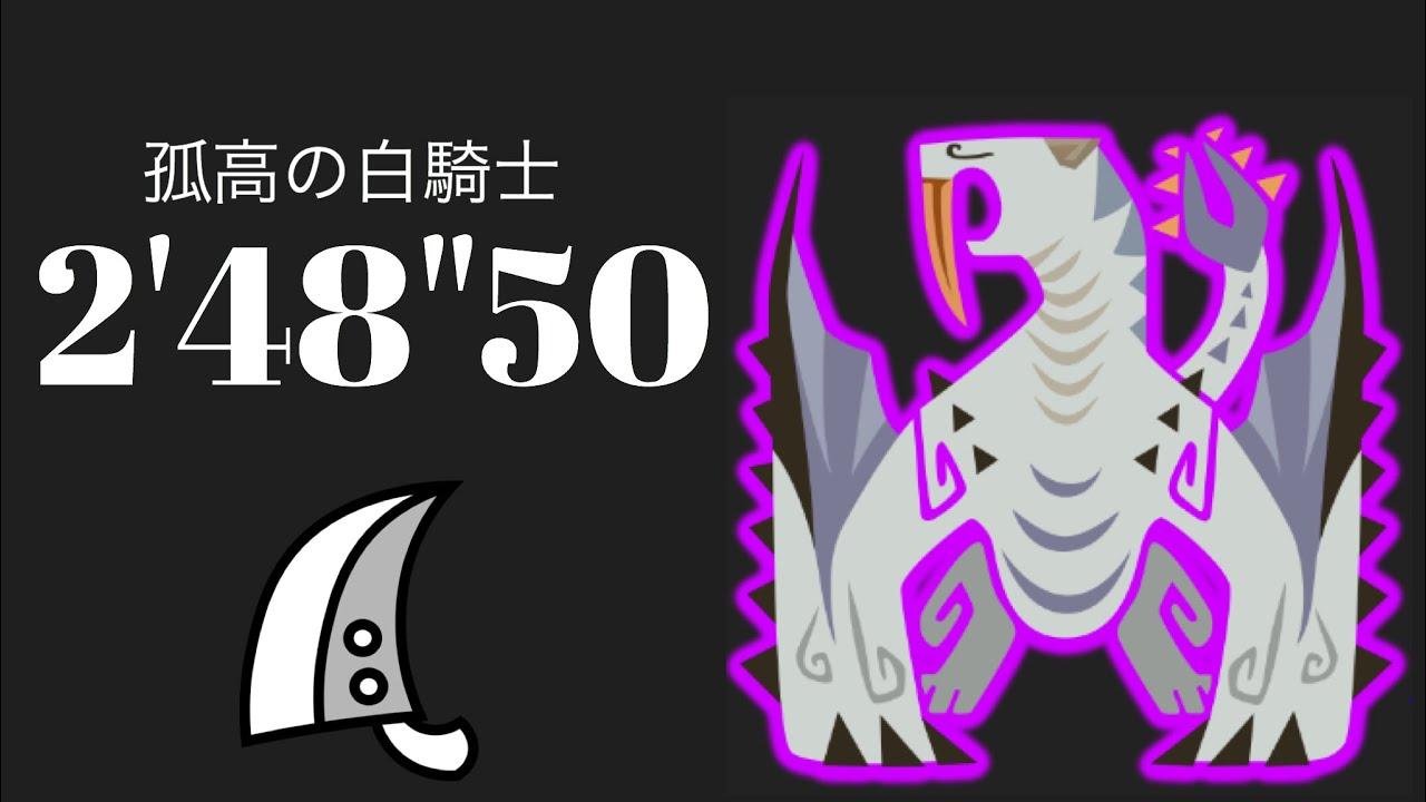"MHWI 歴戦ベリオロス 大剣ソロ 2'48""50 孤高の白騎士/Proud White Knight Tempered Barioth Greatsword solo"