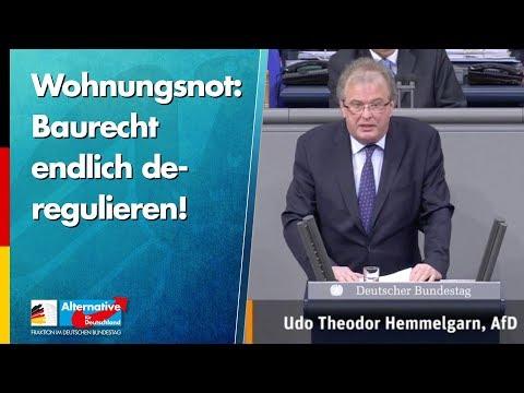 Wohnungsnot: Baurecht endlich deregulieren! - Udo Hemmelgarn - AfD-Fraktion im Bundestag